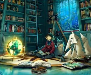 book, art, and anime image