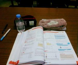 book, exam, and school image
