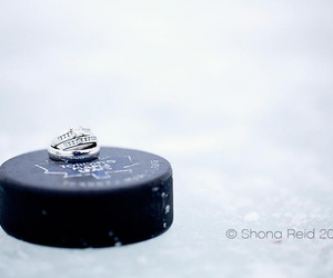 engagement, hockey, and love image