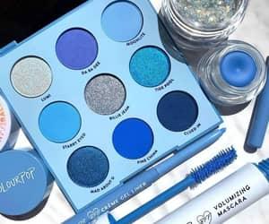 blue, makeup, and mascara image