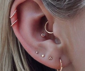 piercing, earrings, and girl image