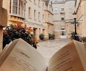 architecture, autumn, and books image