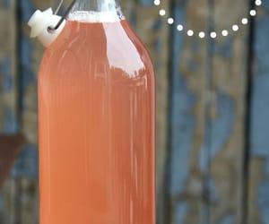 sirup and rhubarb image