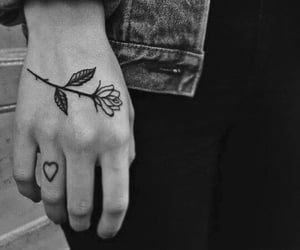 black, tattoo, and heart image