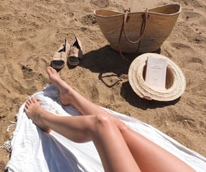 beach, beige, and books image
