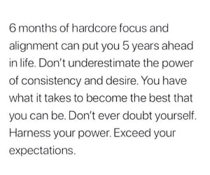focus, quotes, and hard work image