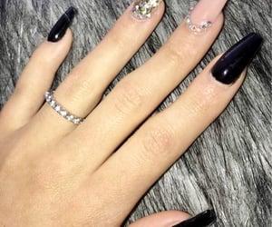 nails, black, and inspiration image