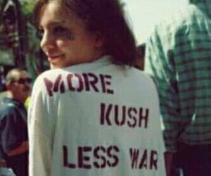 kush, peace, and weed image