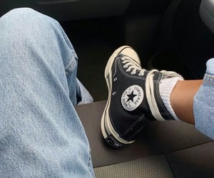 all star, converse, and jean image
