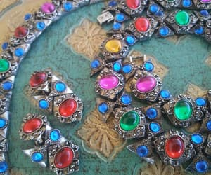 etsy, statement necklace, and red blue green image