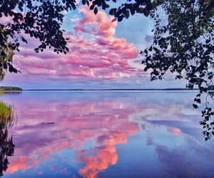 beauty, clouds, and lake image