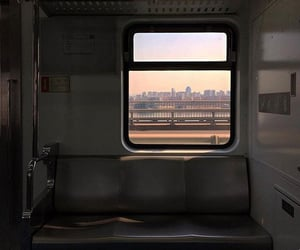 train, aesthetic, and city image
