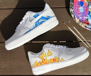 nike, paint, and shoes image