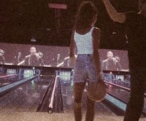 bowling, girl, and retro image