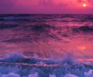 sunset, pink, and purple image