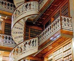 classic, stairs, and library image