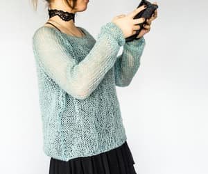 etsy, thin sweater, and pastel goth clothing image