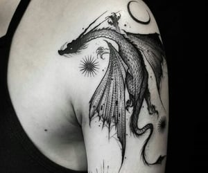 black, medieval, and tattoo image