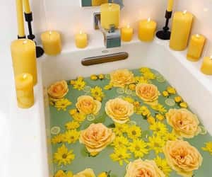 aesthetic, flowers, and yellow image