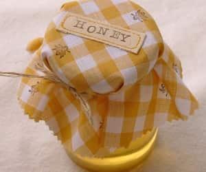 honey, yellow, and bee image