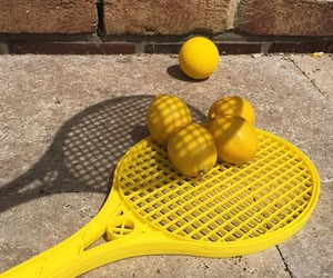 tennis and yellow image