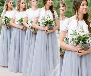 lace bridesmaid dress, bridesmaid dress, and long bridesmaid dress image