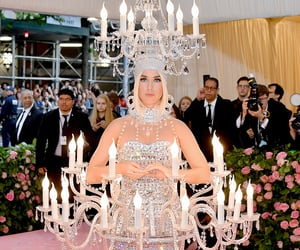 chandelier, metgala, and katyperry image
