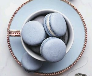 blue, food, and macarons image