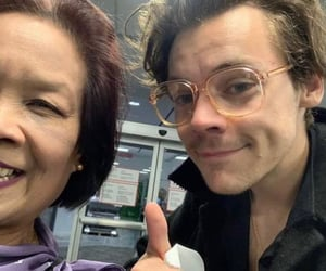 Harry Styles, one direction, and glasses image