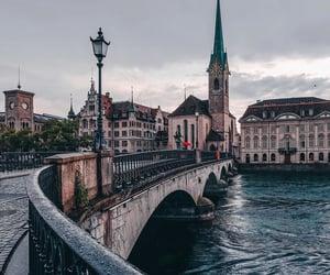 architecture, bridge, and landscape image