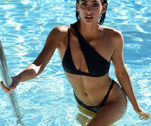 black, pool, and one shoulder image