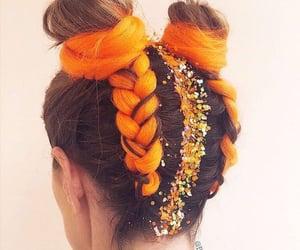 braid, bun, and buns image