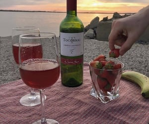 wine, strawberry, and aesthetic image
