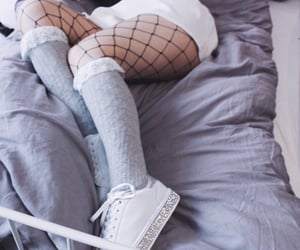 aesthetic, fishnet, and girls image