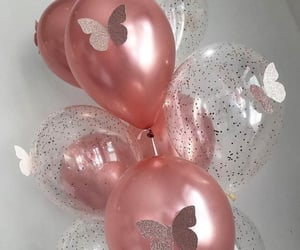 balloons and butterfly image