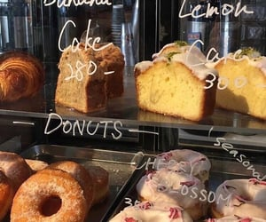 food, bakery, and donuts image