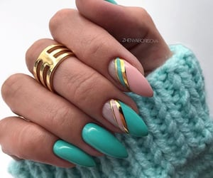 nails, design, and manicure image