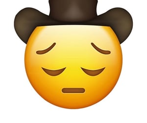 cowboy, sad, and emoji image