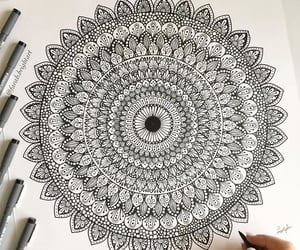 art, dibujo, and mandala image