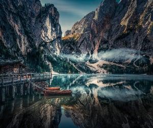 amazing, lake, and mountain image