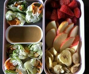 apple, banana, and lunchbox image
