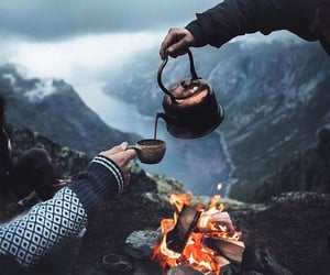 coffee, fire, and nature image