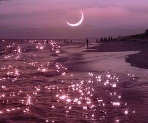 moon, sea, and aesthetic image