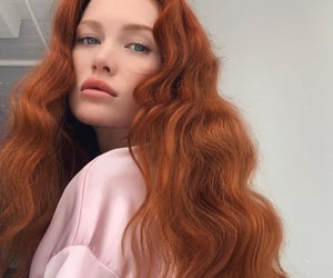 redhead, hair, and beauty image