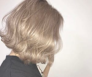 ash, blonde, and cabelo image