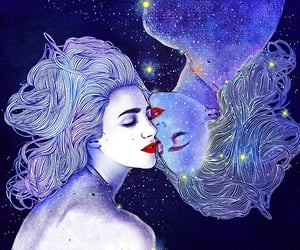 art, astrology, and gemini image