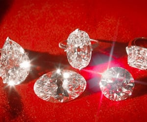 red, diamond, and aesthetic image