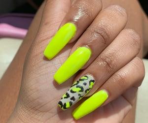 acrylics, cheetah, and nails image