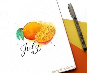 art, calendar, and july image