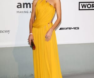 blonde, model, and red carpet image